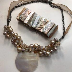 Jewelry - Beautiful shell bracelets and matching necklace